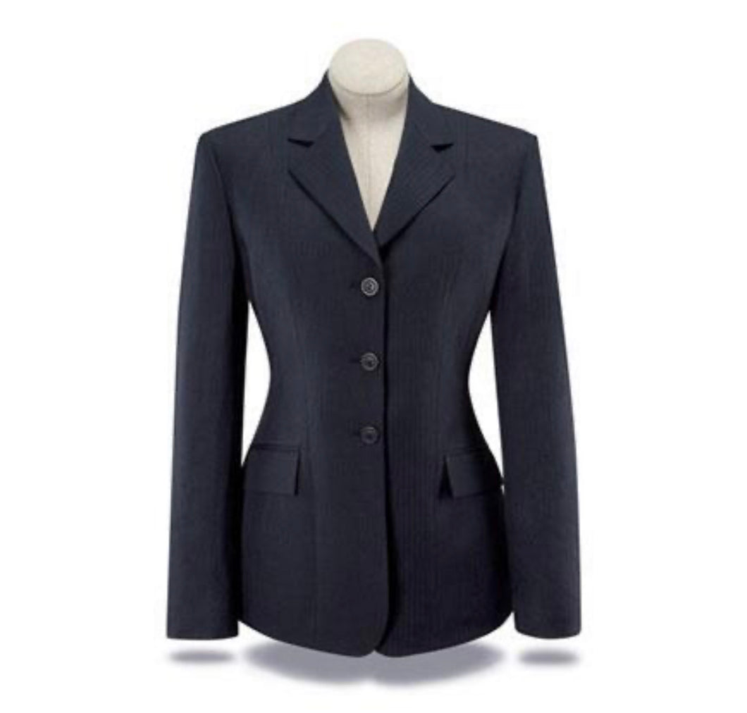 RJ Classics Girls Hampton Show Coat - Navy Blue