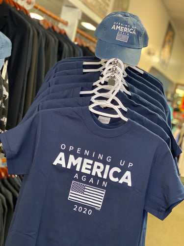 Opening Up America Adult Navy Tee