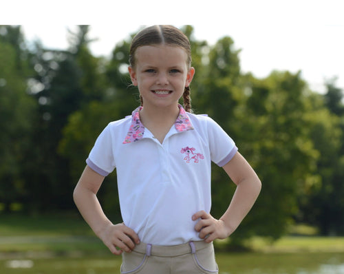 Belle & Bow Equestrian Short Sleeve Show Shirt