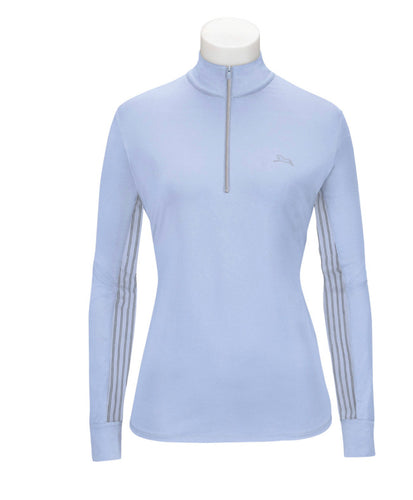 Brunnera Blue Ella Ladies' Long Sleeve Training Shirt with 37.5® Temperature Regulating Technology