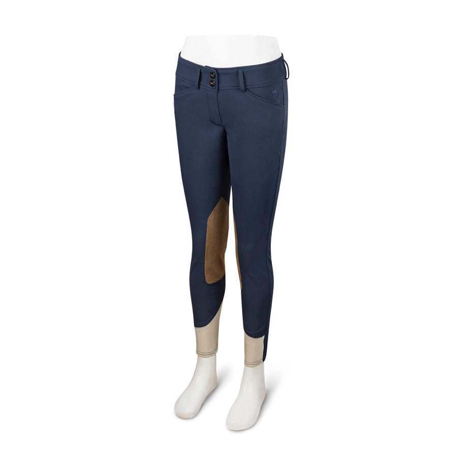 "RJ Classics ""Harrisburg"" Girls Front Zip Breeches Navy"