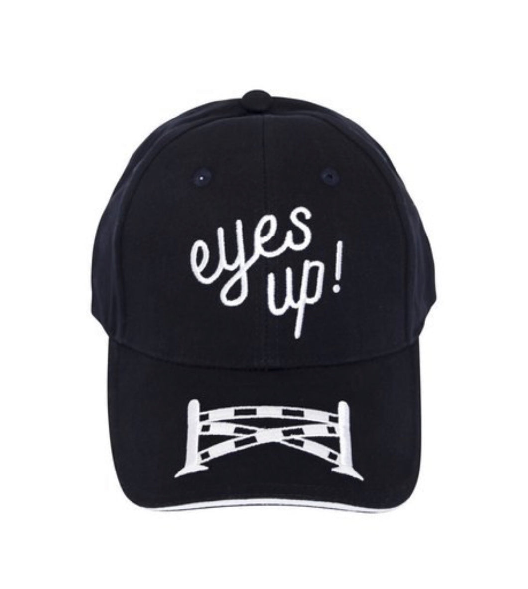 Eyes Up Navy Embroidered Ball Cap