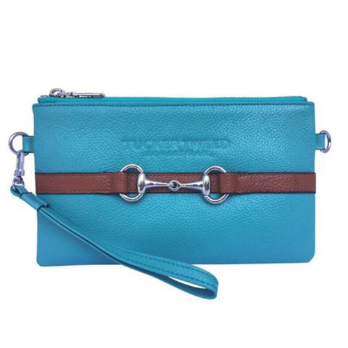 Tucker Tweed Turquoise Wellington Wristlet