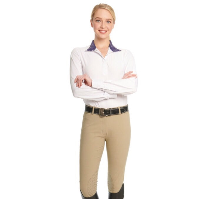 Ovation Bellissima Knee Patch Breeches Tan or Gray Women