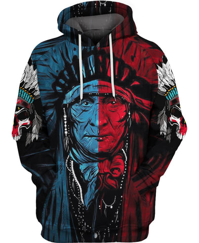 Blue Red Native Chief