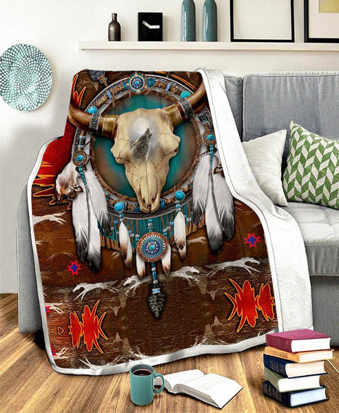 Native Buffalo Fleece Blanket