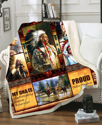 Native Chief Fleece Blanket