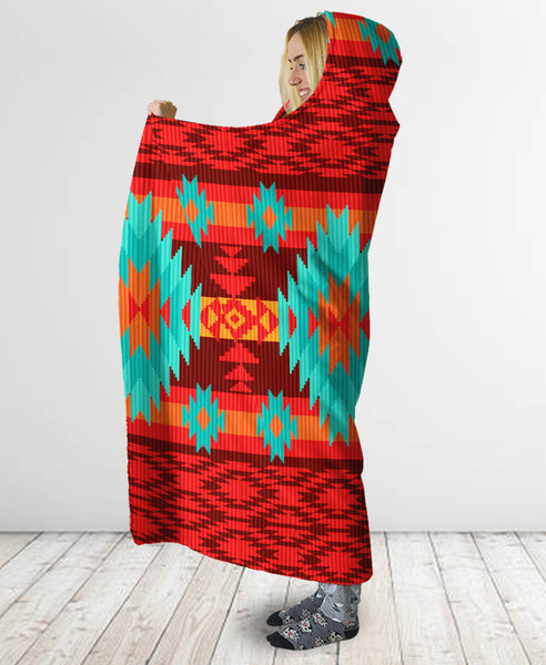 Pattern Hooded Blanket