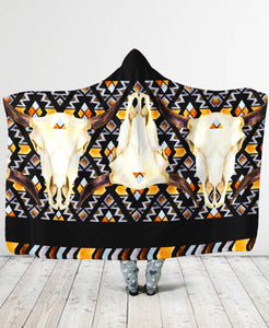 Buffalo Border Hooded Blanket