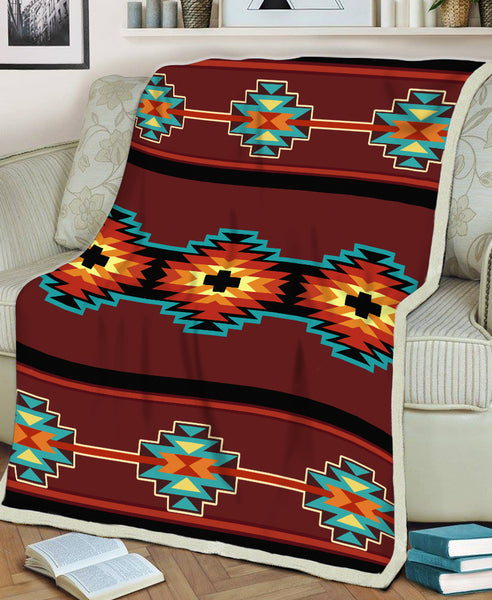 Brown Pattern Fleece Blanket