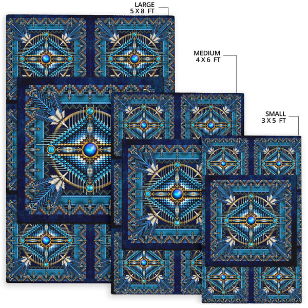 Blue Square Motifs