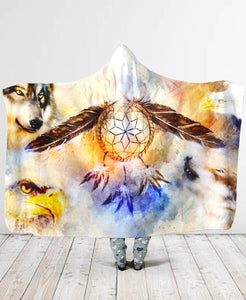 Native Spirit Hooded Blanket