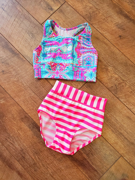 Mix and Match Hot Pink Two Piece Set