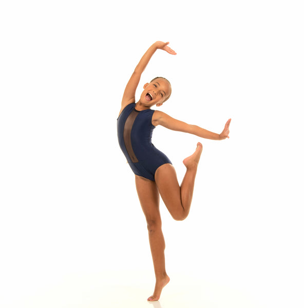 Navy Mesh Center Leotard