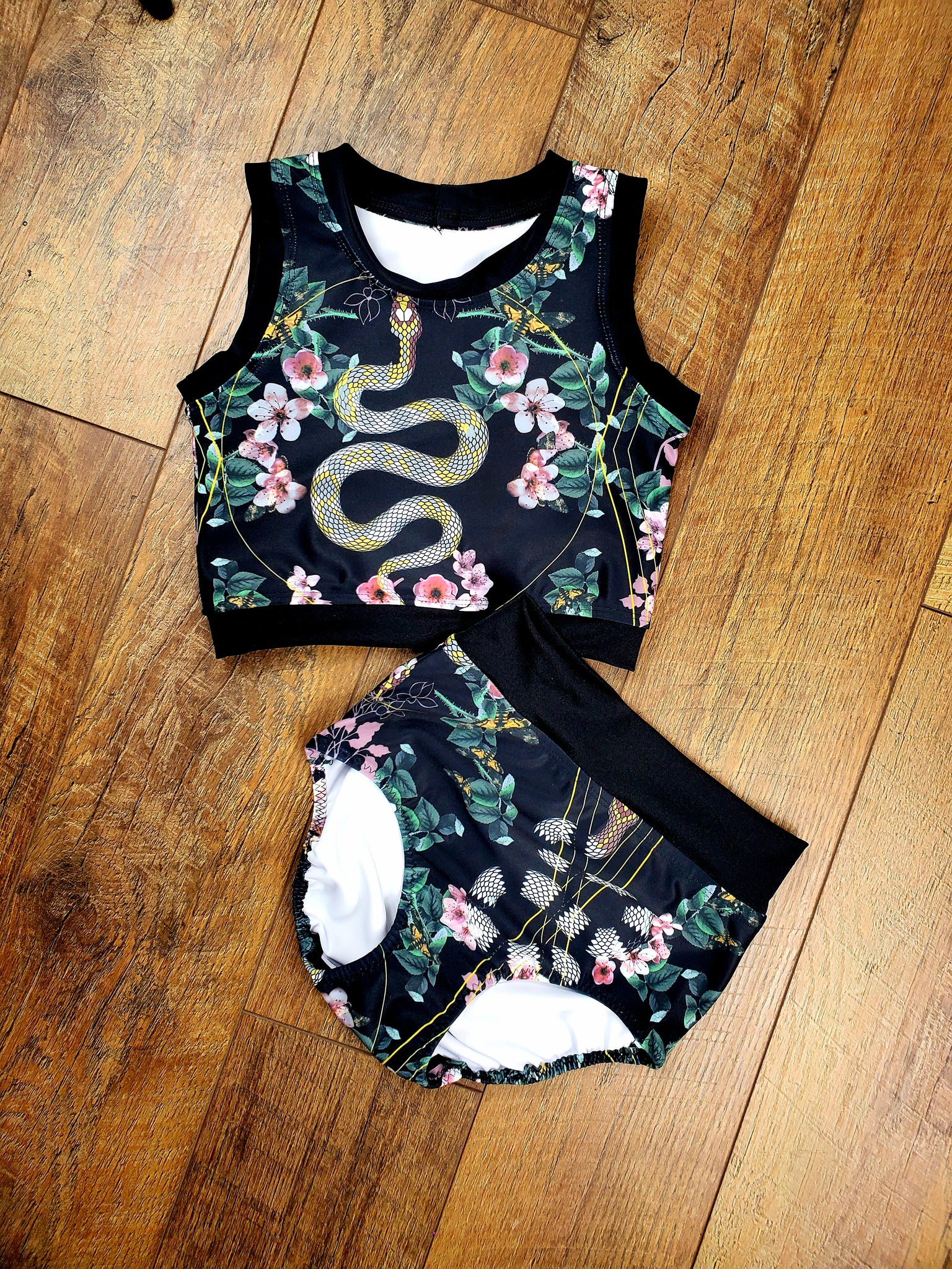 Snake Floral Two Piece Set