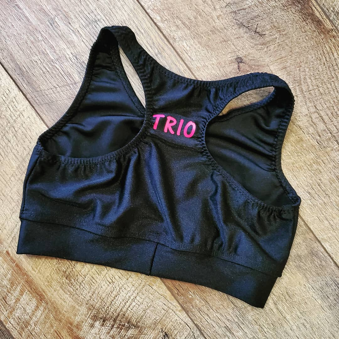 Personalized Black Sports Bra