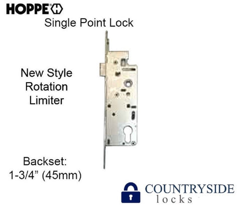 "HOPPE MORTISE LOCK, 1"" DEADBOLT THROW, 45/92 SINGLE POINT LOCK 1-3/4"" BACKSET - Countryside Locks"