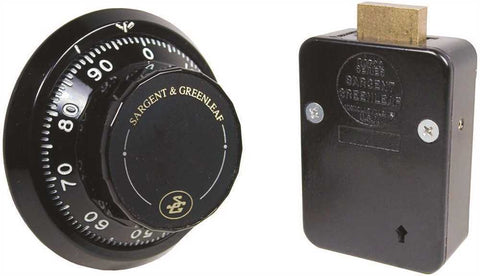 SARGENT & GREENLEAF 6730-100 FRONT READING LG KNOB BLACK AND WHITE SET SAFE LOCK - Countryside Locks
