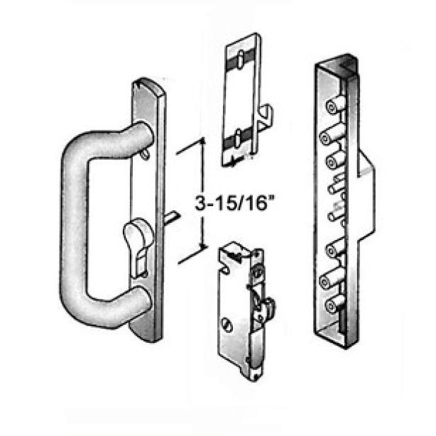 White Sliding Door Handle And Lock Set Countryside Locks