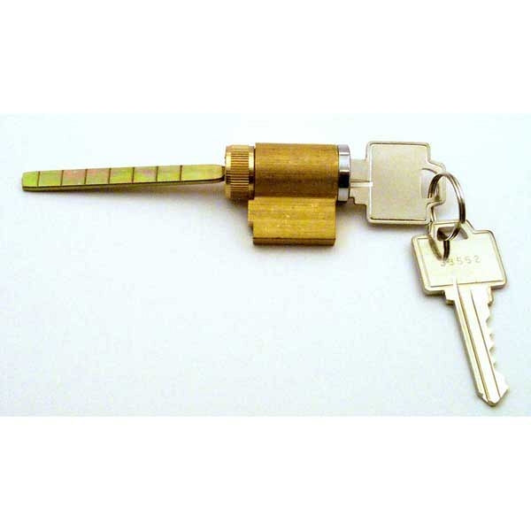 Cylinder Lock, 1-3/4 in. Tailpiece, Brass Housing, 2 Keys For Patio Door Locks - Countryside Locks