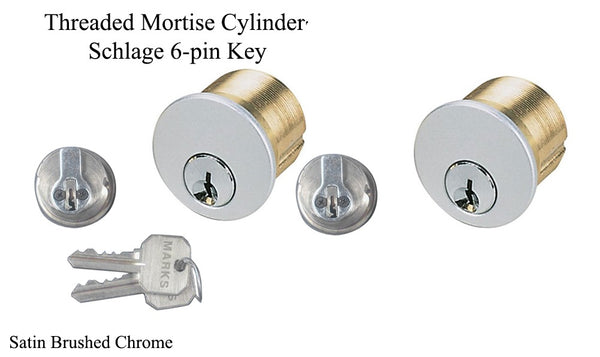 "One Pare of Marks mortise lock cylinder, 1"" For The Marks 22AC Lock - Countryside Locks"