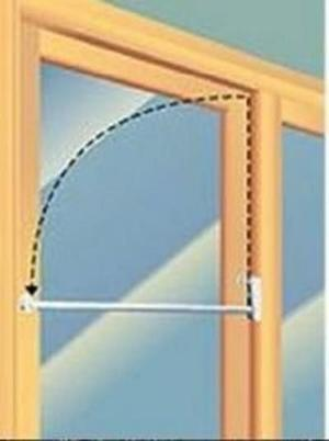 PATIO DOOR SECURITY J-BAR 48 INCHES - Countryside Locks