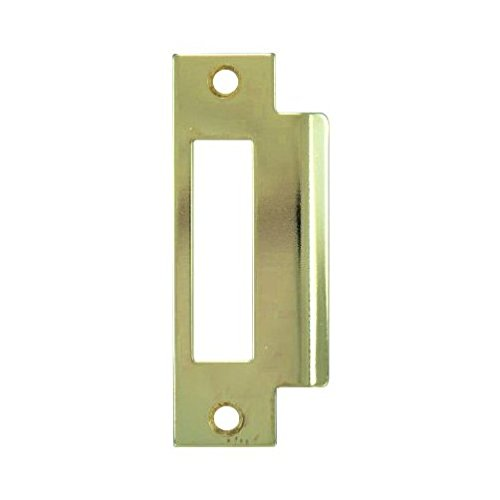 "Marks Lock Brass Mortise Strike Plate (Large Hole) 4-7/8"" - Countryside Locks"