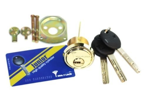 Mul-t-lock Junior Rim & Mortise Rimo Cylinder. Mul-t-lock Rim Mortise 3 Keys - Countryside Locks