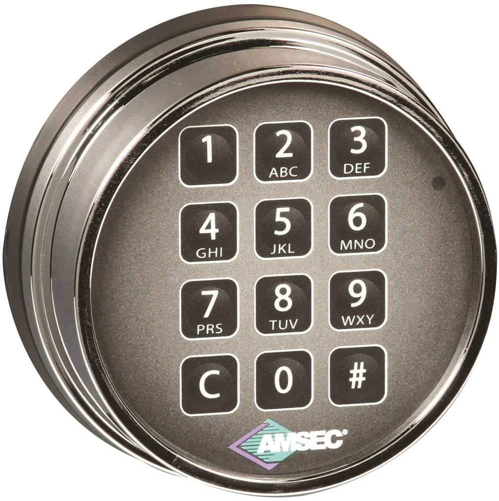 Amsec ESL10XL Series Electronic Safe Lock