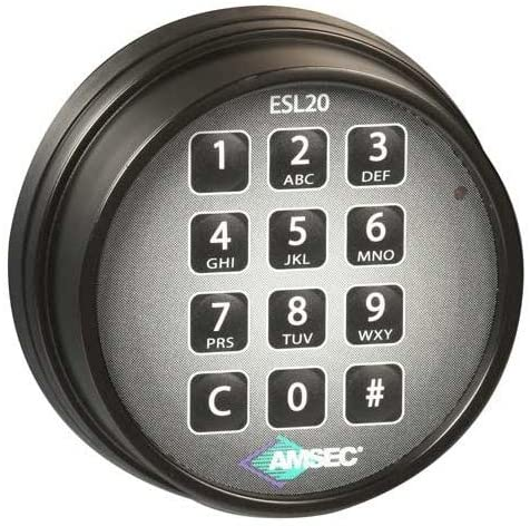 Amsec 0615801 ESL20XLBL-S Slam Bolt Electronic Safe Lock