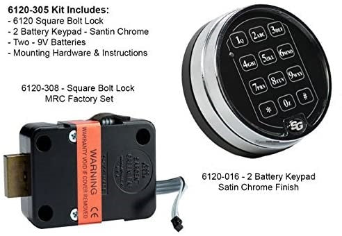 Sargent & Greenleaf 6120-305 Electric Safe Lock W/1-9 Min Delay