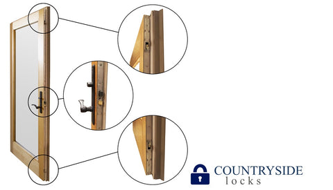 Andersen Frenchwood Active Panel 3-Point Lock Multipoint Lock FWH68 Door- Stainless Steel (1988 to present) - Countryside Locks