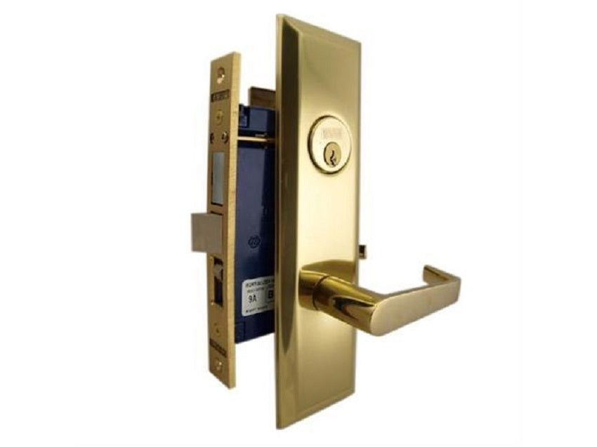 MARKS 116A ENTRANCE METRO APARTMENT MORTISE LOCKSET W/ LEVER HANDLE - Countryside Locks