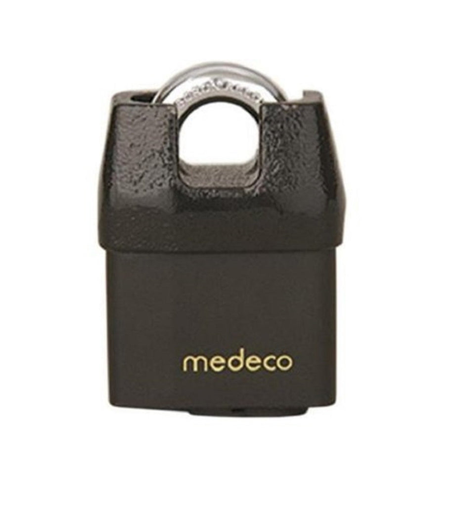 "Medeco 54-72500-00 54 System Series All Weather 7/16"" x 3/4"" Shrouded Shackle Padlock With High Security 00 Original Keyway"