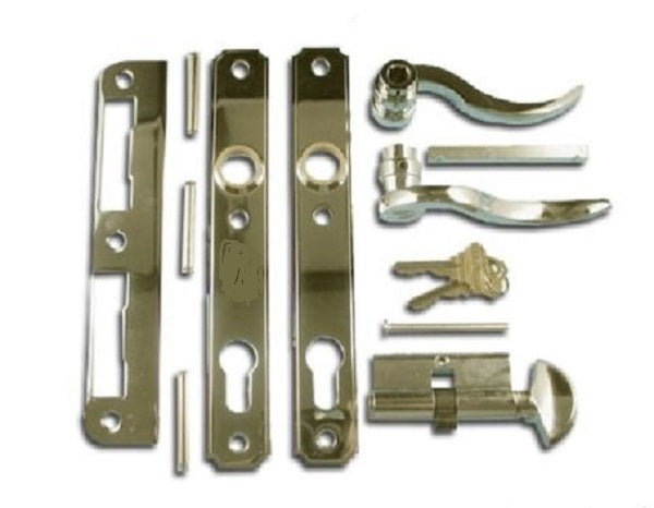 ATRIUM DOOR MORTISE LOCK TRIM SET - POLISHED BRASS - Countryside Locks