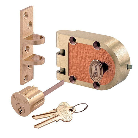 Segal Single Cylinder Deadbolt - Genuine Jimmy Proof Lock - 667 - Countryside Locks
