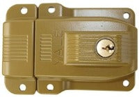 Yale Security, Sprayed Bronze, Heavy Duty Rim Lock For Large Deadbolt