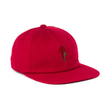 Rose 6 Panel Unstructured Hat (Red)