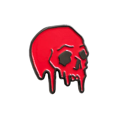 Dripping Skull Pin (Red)