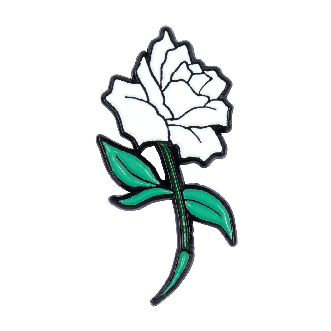 White Rose Pin