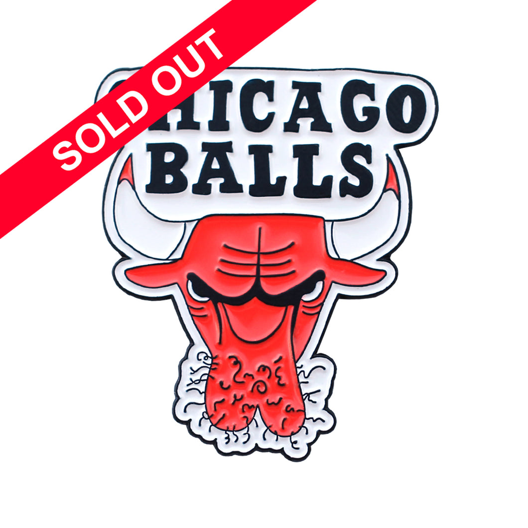 Porous Walker - Chicago Balls Pin