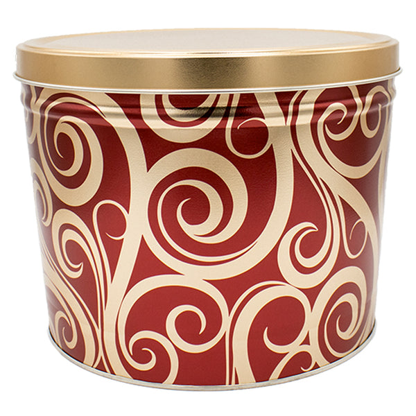 2 Gallon Golden Swirl Tin - Popcorn Friday
