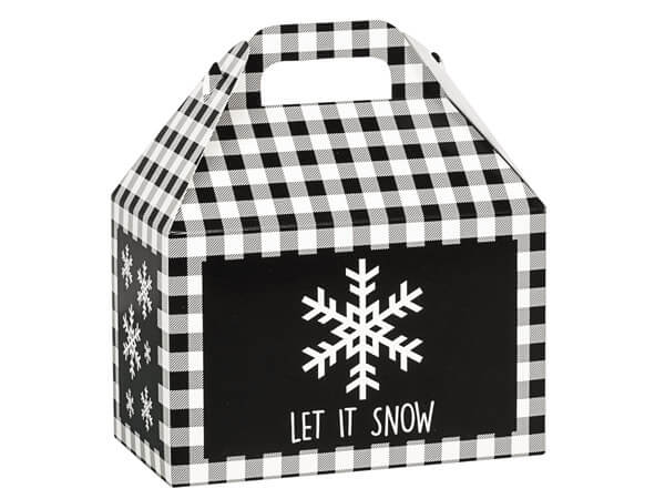Let it Snow Black Plaid - Popcorn Friday