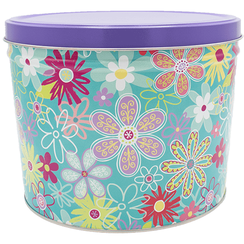 Popcorn Tin Flower Blossoms - 2-Gallon