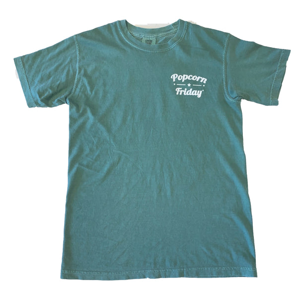 Popcorn Friday T-Shirt (Light Green)