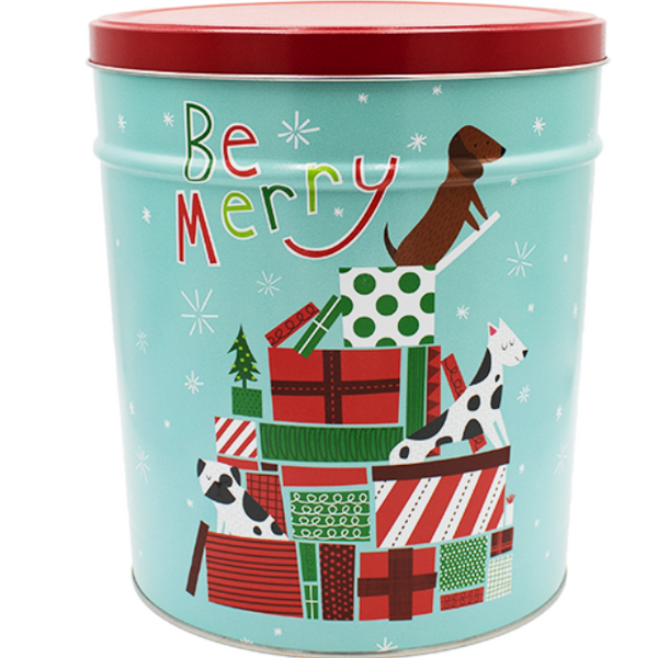 Popcorn Tin Jingle Pups - 3.5 Gallon