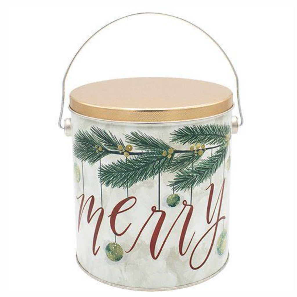 Popcorn Tin Very Merry - 1-Gallon