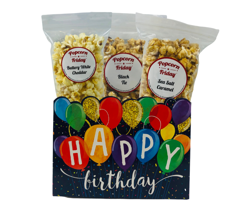 Popcorn Gift Basket-Small Happy Birthday