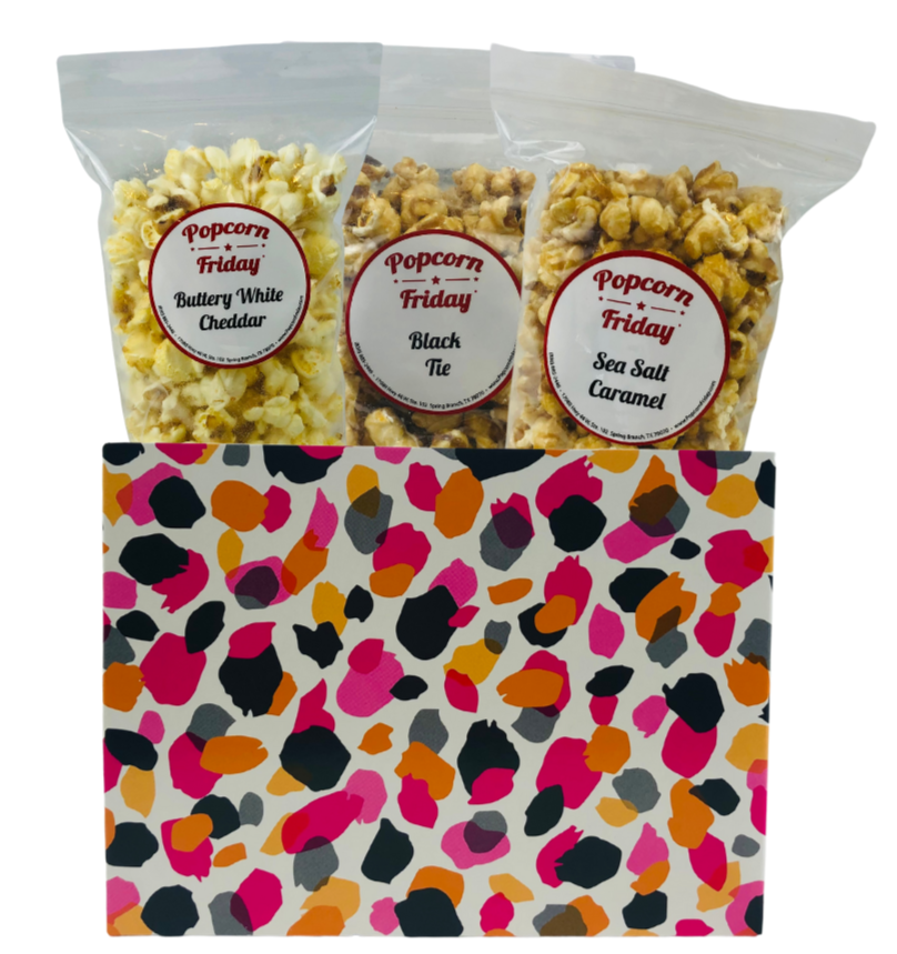 Popcorn Gift Basket Small- Jungle Spots