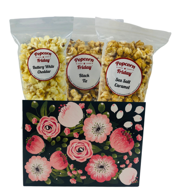 Popcorn Gift Basket Small- Moonlit Blooms
